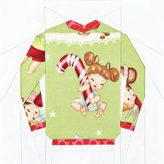 Christmas Sweater 7 PDF Paper Piecing Pattern