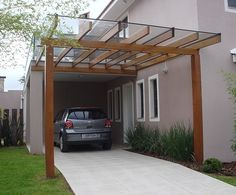 Excellent Instantanés pergola carport front of house Populaire Gazebo, Carport Canopy, Patio Pergola, Carport Garage, Pergola With Roof, Pergola Plans, Backyard Patio, Pergola Carport, Attached Pergola
