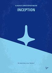 Minimalist Movie Posters - Art - No240 My Inception minimal movie poster  by Chungkong Art