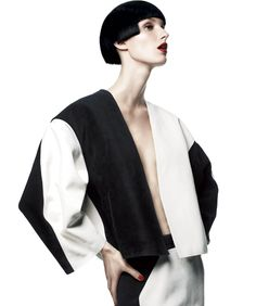 Graphic Impact by Gregory Harris & Tony Irvine. Spring 2013 Black and White Fashion Editorial - Harper's BAZAAR.