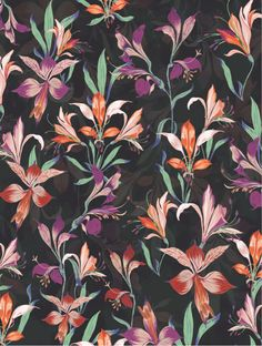 Behance :: Editing Floral Patterns
