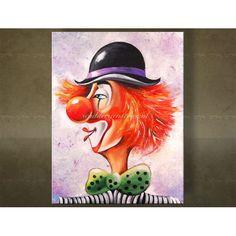Clown Schilderijen. Zowel modern als abstract. Prachtig met de handgeschilderd. Unieke wanddecoratie.