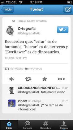 Errar, Herrar, EwrRawrr.  Ortografía