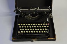 1930s Oliver Working Typewriter Portable by MidCenturyEU on Etsy