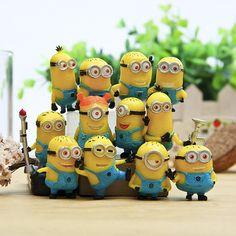 Brinquedo set 12 Pçs/set Despicable Me Minion 2 em Figuras de Ação Asseclas Brinquedos Boneca de Varejo 96408