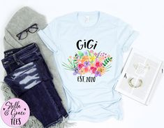Baby Announcement Grandparent, GIgi Est. 2020 Tshirt, First Time Grandma Shirt, Gift for Her, Baby Announcement Gift for Grandma, Gigi Shirt