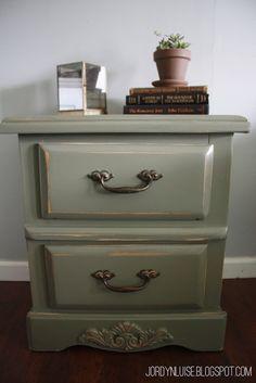 Sage Green Furniture. #Nightstand #jordynlusieblog #jldesigns