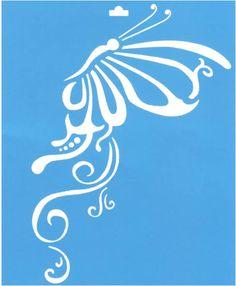 Plantilla de Stencil (21,1x17,2cm) STM-012 Mariposa