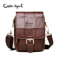 3cfc7f8266 Cobbler Legend Fashion Men s Vintage Genuine Leather Messenger Bag Male  Cowhide Shoulder Crossbody Mini Bags Messenger