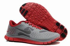 wholesale dealer d4a06 6f3e7 Nike Free 4.0 V2 Mens Running Shoe Wolf Grey Reflective Silver University  Red http