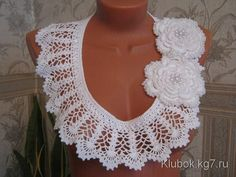 Make A Collar, Use The Crochet Graphic! Beautiful - Crochet Free