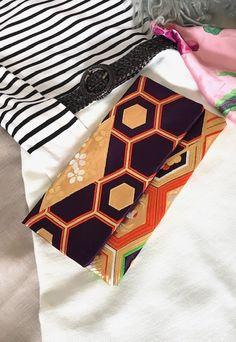 Japanese Kimono Obi Clutch Bag Japanese Kimono, Clutch Bag, Upcycle, Cards, Upcycling, Clutch Bags, Repurpose, Clutch Purse, Maps