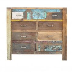 Nirvana Reclaimed timber chest of 9 drawers