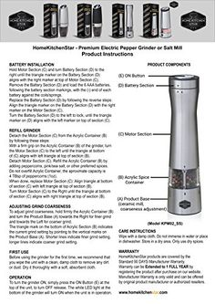 Premium Electric Pepper Grinder or Salt Mill - Bottom LED Light, Adjustable Grind Coarseness, Automatic Battery Operated, One Handed Electronic, Black PepperMill, New Modern Design (Stainless Steel),... New Electronic Gadgets, Electronics Gadgets, Electric Pepper Grinder, Gadget Store, Battery Operated, Modern Design, Smartphone, Salt, Stainless Steel