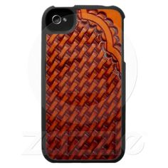 Tooled Leather Western iPhone 4 Case
