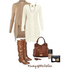 """White Mini Dress"" by kaseyofthefields on Polyvore"