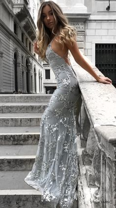SILVER JADORE DRESS BY STUDIO MINC #BACKLESS