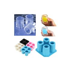 4 Cup Shape Silicone Shooter Ice Cube Glass Mold Maker ($4.65) ❤ liked on Polyvore featuring home, kitchen & dining, kitchen gadgets & tools, white, ice molds, silicon ice tray, silicon ice cube tray and ice cube trays