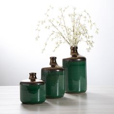 Beautiful Melenia Green and Bronze Vases in three sizes. Wholesale Home Decor, Green Home Decor, Garden Accessories, Vases, Zen, Home And Garden, Bronze, Beautiful, Vase