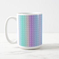 Cute Stripes and Polka Dot Pattern Coffee Mug - modern gifts cyo gift ideas personalize