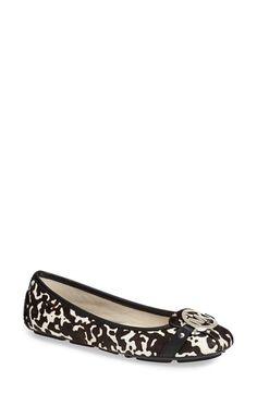 Oh my goodness, I want these! MICHAEL Michael Kors 'Fulton' Calf Hair Flat   Nordstrom