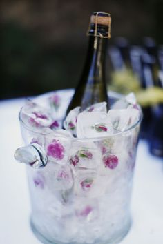 Rose ice cubes - party idea!