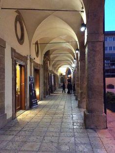 The main square in Mazara del Vallo in the Province of Trapani, Sicily, Italy