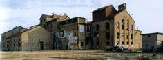 La fabbrica dell'ex zuccherificio di Classe prima dell'inizio degli interventi di recupero (2002)