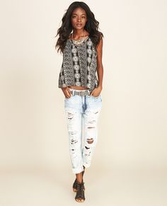 On A Whim Crochet-Back Tank | Wet Seal