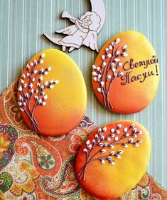 205 отметок «Нравится», 8 комментариев — Пряники Кемерово (@pryaniki_kemerovo) в Instagram: «Приближается мой любимый Праздник! Готовиться-одно удовольствие) Такие яйца и другие пасхальные…» Fall Cookies, Cute Cookies, Easter Cookies, Christmas Cookies, Iced Sugar Cookies, Royal Icing Cookies, Gingerbread Decorations, Gingerbread Cookies, Paint Cookies