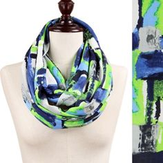 Jersey Abstract Print Scarf New Accessories