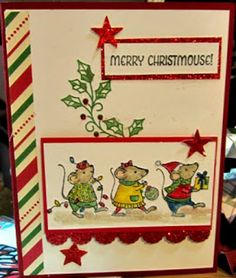 Crafty Maria's Stamping World: Merry Christmouse - Fab Friday #93