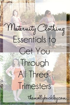 Maternity Clothing Essentials to get you   through all three trimesters.  This all sounds like pretty good advice, and they   go along with things I'm already doing.  :)  Gad to have my thoughts/plans   validated!