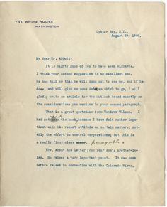 Theodore Roosevelt Gives Rare Praise to Woodrow Wilson While Vilifying a Harvard Political Writer