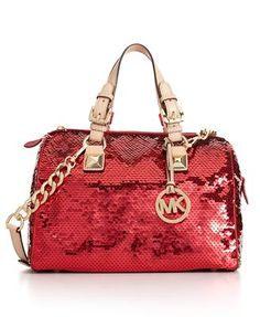Michael Kors Red Sequin Purse!  Love this bling, just not the price tag!