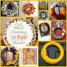 My wreath from Home Sweet Ruby featured in this 25 Charming DIY Fall Wreaths roundup! :)