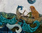 WHIMSY IN TEAL.... by Nancy Henry on Etsy