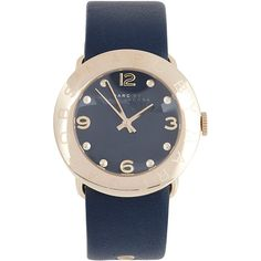 Marc By Marc Jacobs Amy Stainless Steel Watch ($250) ❤ liked on Polyvore