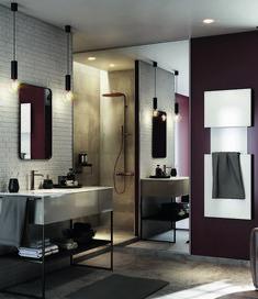 Tout pour sublimer vos envies déco ! Envie de salle de bain vous présente 7 styles majeurs, retenus par nos experts. 7 envies de déco que vous pourrez adopter ou adapter en fonction de votre espace et de votre mode de vie. Alors, plutôt une salle de bain au look Industriel, Exotique, Vintage, Modern design, Campagne chic, Classique Chic ou Scandinave ? Bathroom Lighting, Oversized Mirror, Styles, Furniture, Design, Home Decor, Vintage, Classic Bathroom, Classic Chic
