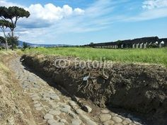 An ancient road in the Park if Aqueducts in Rome