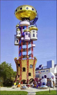 The Hundertwasser Turm in Abensberg