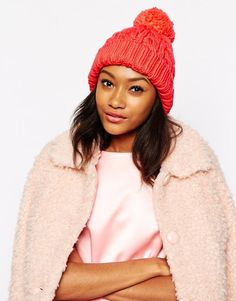 Warehouse   Warehouse Cable Knitted Hat at ASOS