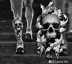 Quick sketch for leg - List of the most beautiful tattoo models Skull Tattoo Flowers, Flower Tattoo Designs, Skull Tattoos, Leg Tattoos, Black Tattoos, Sleeve Tattoos, Tattoos For Guys, Tattoo Sketches, Tattoo Drawings