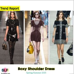 Structure Boxy Shoulder Dress Trend for Spring Summer 2015. Louis Vuitton, Fendi, and Chanel Spring Summer 2015. #Fashion #SS2015 #SS15