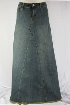 """Vintage Long Denim Skirt (i keep forgetting that """"vintage"""" now means 80's)"""