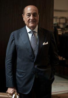 Mr. Orazio Luciano, the former master cutter of Kiton.