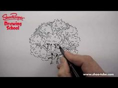 Ink Drawing How to draw a tree in pen and ink That was fun and the best tree I have eer made! Thanks Shoo - Ink Pen Drawings, Zentangle Drawings, Realistic Drawings, Doodle Drawings, Doodle Art, Zentangles, Drawing Tutorials, Drawing Techniques, Art Tutorials
