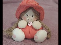 Felt Crafts, Diy And Crafts, Crafts For Kids, My Child Doll, Primitive Doll Patterns, Doll Videos, Flower Video, Polymer Clay Figures, Felt Decorations