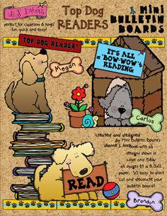 Download 'Top Dog Readers' now for 25% savings! Now through 2/25/15. This mini bulletin board set is sure to make a doggone adorable addition to your classroom...