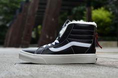 Vans leather zipper velvet black f003